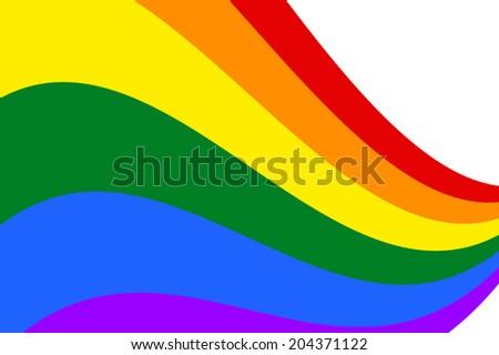 Gay and LGBT rainbow flag. Vector. - stock vector