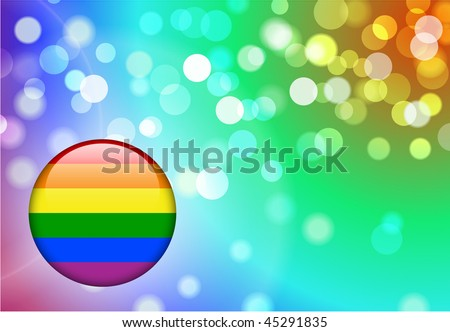 Gay Internet Button on Abstract Blur Background Original Vector Illustration EPS10 - stock vector