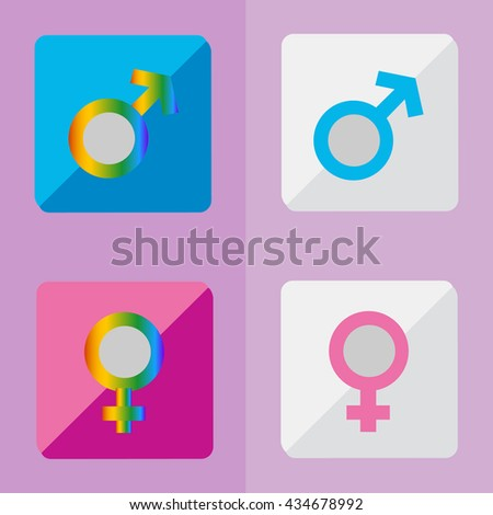 Gay Marriage in the Rainbow. LGBT Equality. - stock vector