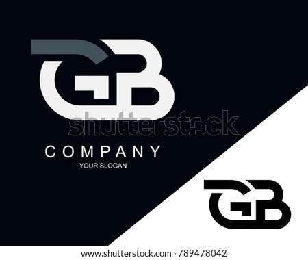 Gp letter logo design template stock vector 780407527 shutterstock gb letter logo design template altavistaventures Gallery