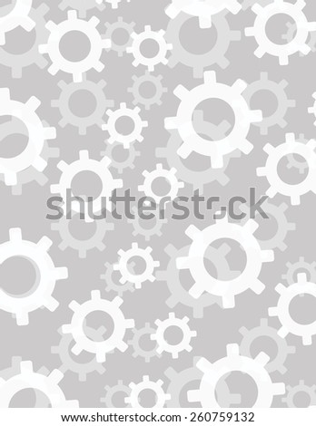 Gear arranged over solid color background - stock vector