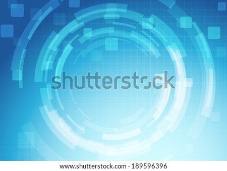 Gear blue abstract technology industrial engineering background template. Vector illustration - stock vector