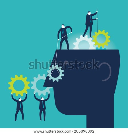 Gear Brain - stock vector