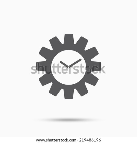 Gear clock time concept design icon - stock vector