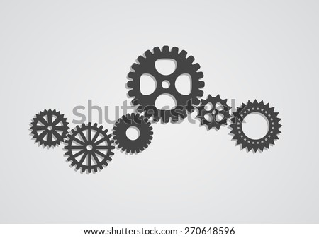 gear cog wheel industrial abstract background - techno design - stock vector