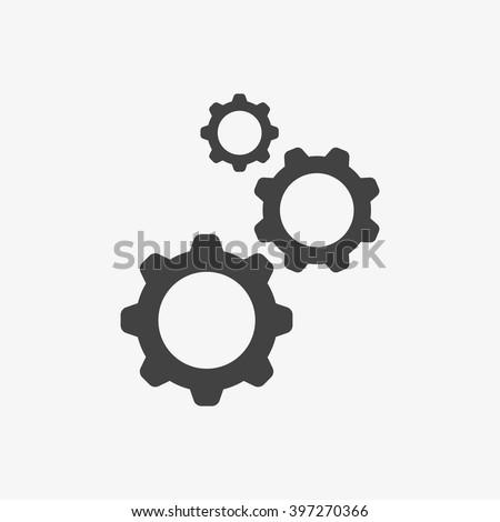 Gear Icon in trendy flat style isolated on grey background. Engineering symbol for your web site design, logo, app, UI. Vector illustration, EPS10. - stock vector