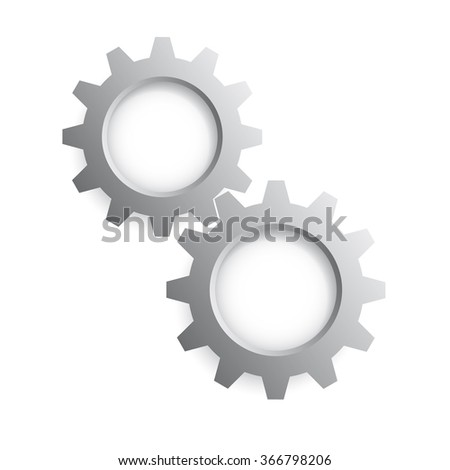 Gear icon. Vector illustration.