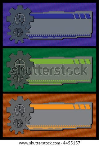 gear/ mechanical themed banners - stock vector