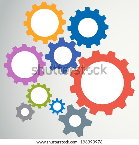 Gear modeling abstract background. Vector illustration