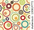 Gear pattern background in different colors - stock vector