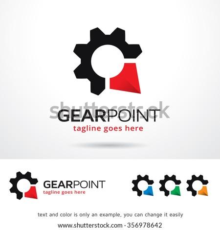 Gear Point Logo Template Design Vector - stock vector