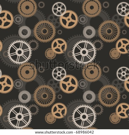 Gear seamless texture. Vector.