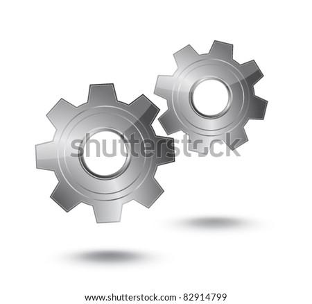 Gear vector icon - stock vector