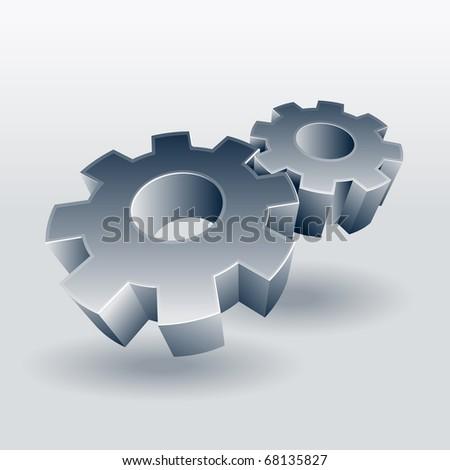 Gear wheel vector symbol. - stock vector