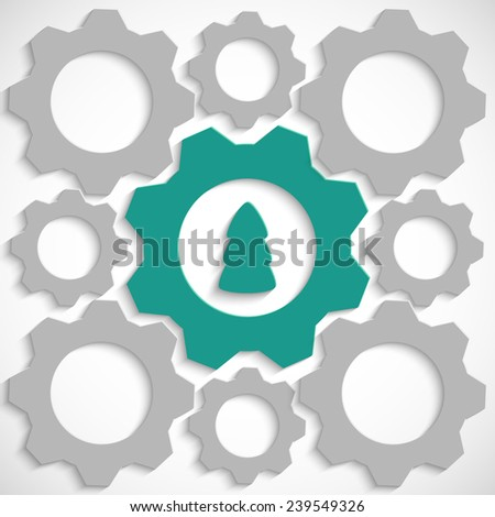 Gear with Christmas tree in the mechanism - stock vector