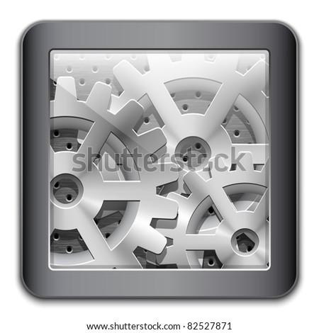 Gearbox Icon. Vector - stock vector