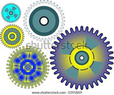 gears - stock vector