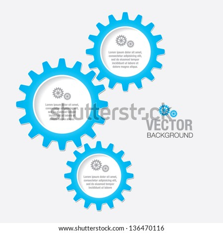 Gears and Cogs - stock vector
