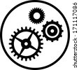 Gears and cogs vector icon isolated  - stock vector