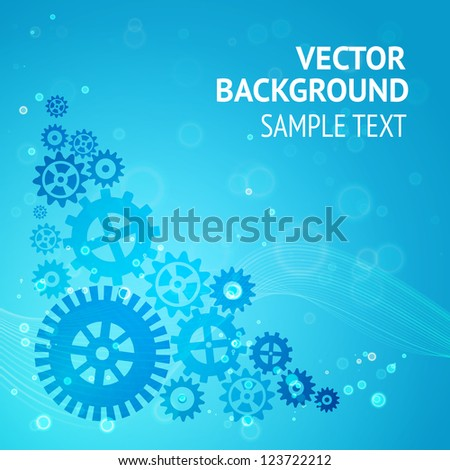 Gears background for your sample text. Vector illustration. - stock vector