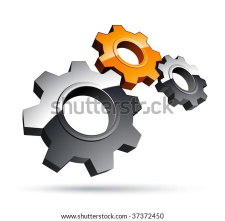 Gears design - stock vector