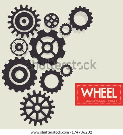 gears design over  background vector illustration - stock vector