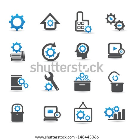 Gears icons,vector - stock vector