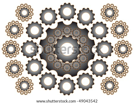 Gears - isolated - stock vector