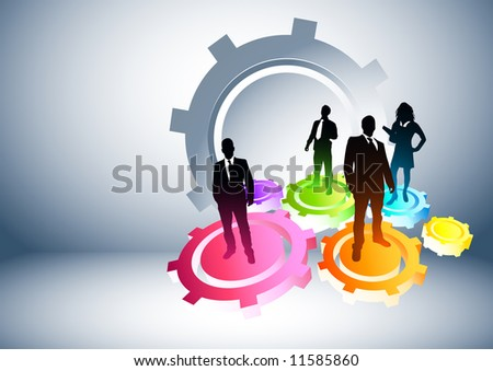 Gears of Success. Business concept vector illustration. - stock vector