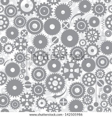 gears. seamless background. vector. eps8 - stock vector