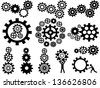 gears set - stock vector