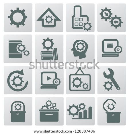 Gears sign,vector - stock vector