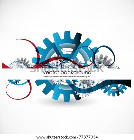 gears vector background - stock vector