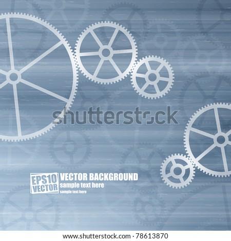 Gears vector background - stock vector