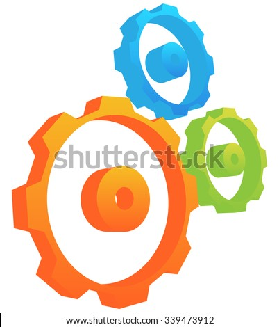 Gearwheel, gear, cogwheel vector. - stock vector
