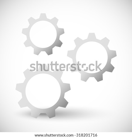 Gearwheel, gear vector icon, illustration for industrial, maintenance, development concepts.