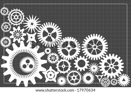 gearwheels background - stock vector