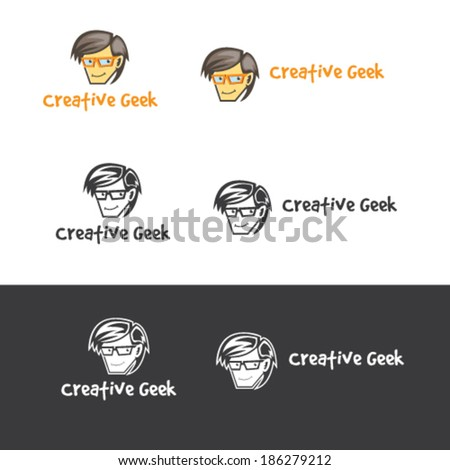Geek Character Illustration Vector