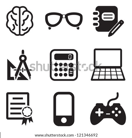 Geek Icons - stock vector