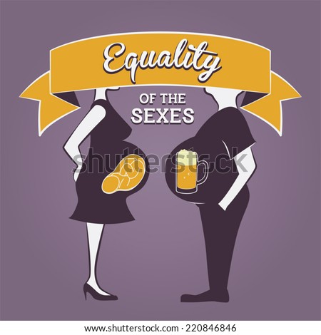 "Gender Equality Illustration - ""Equality of the sexes"" - stock vector"