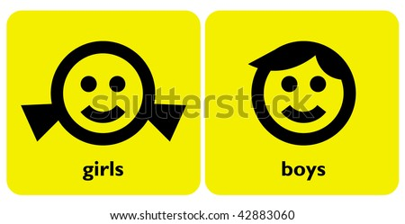 gender signs 2 - stock vector