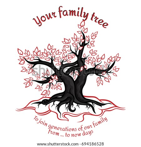 Genealogical Tree Concept Union Generations Red Stock Photo Photo
