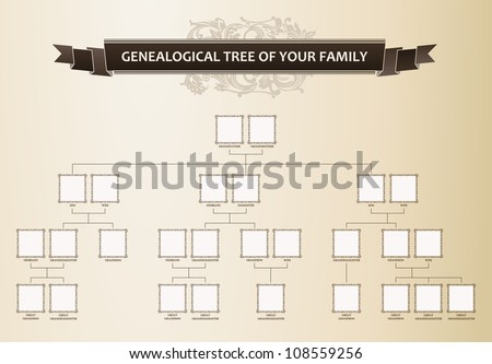 Genealogical tree of your family. Vector illustration - stock vector
