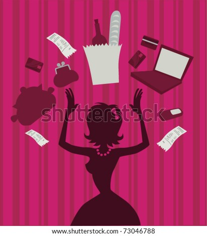General girl's problems - stock vector