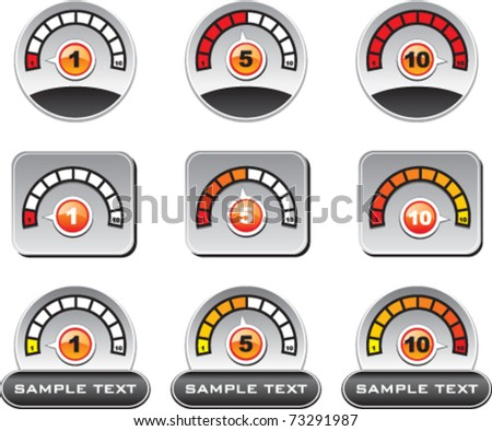 General Meter gauge sign - stock vector
