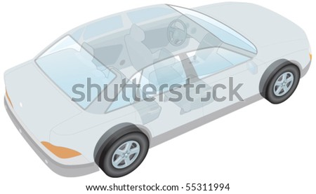 Generic car - stock vector