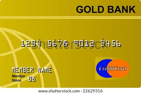 Generic Credit Card - stock vector