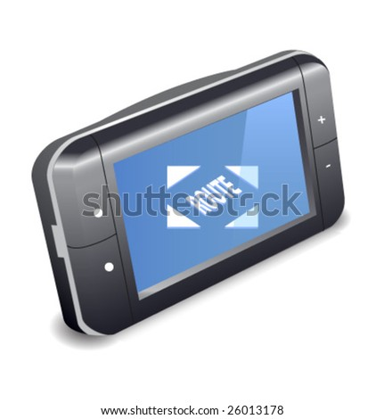Generic GPS device. Global world navigation. - stock vector
