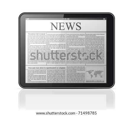 Generic tablet PC - stock vector