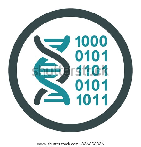 Genetic Code vector icon. Style is bicolor flat rounded symbol, soft blue colors, rounded angles, white background.